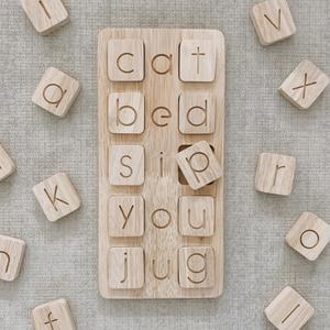 Q toys Wooden CVC  Single Word Board