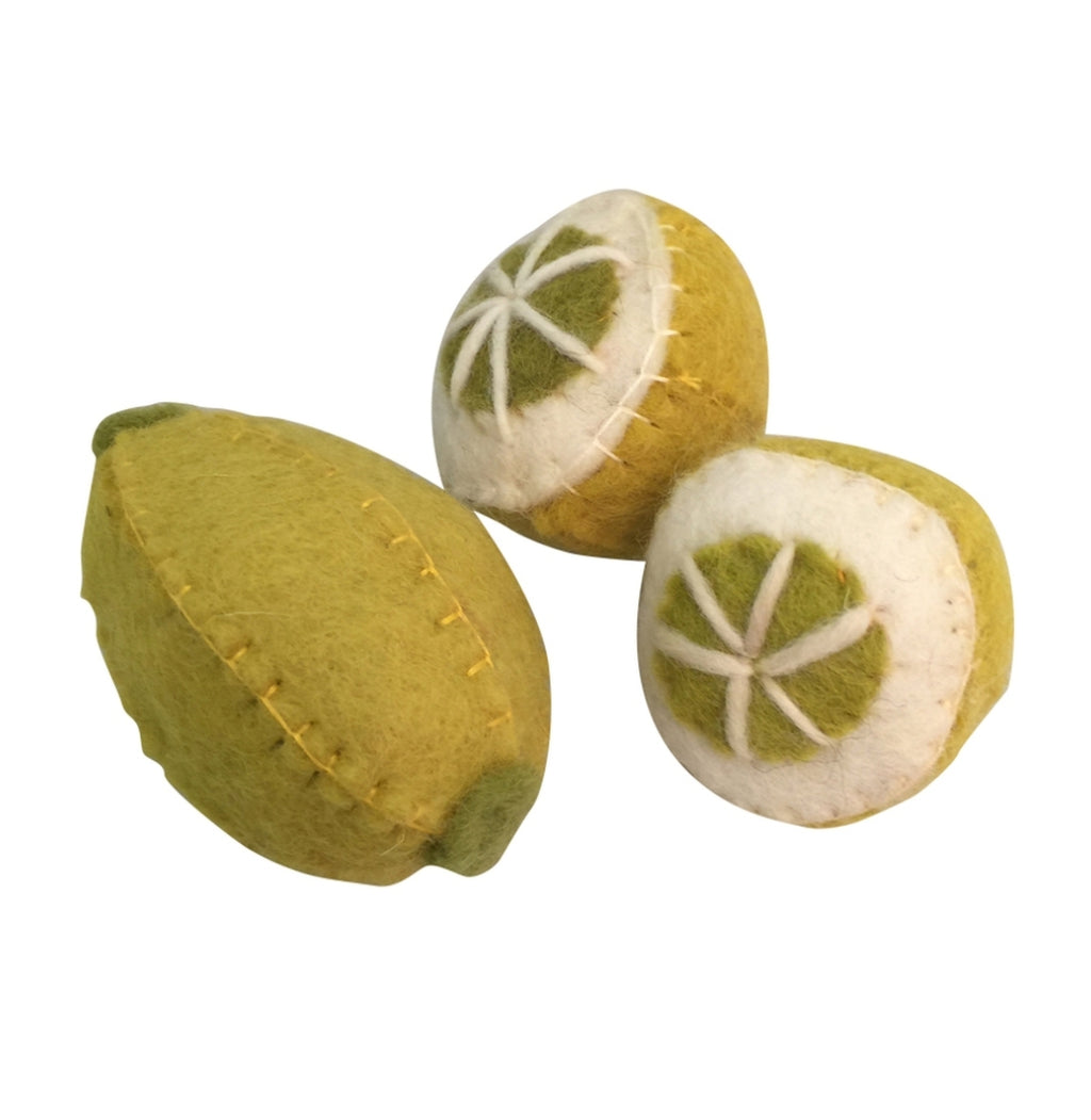Papoose Fair Trade Lemon Toy Set (3 piece)