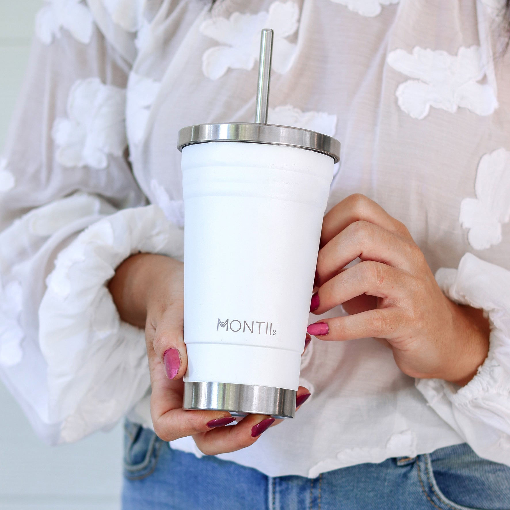 MontiiCo Original Smoothie Cup - White