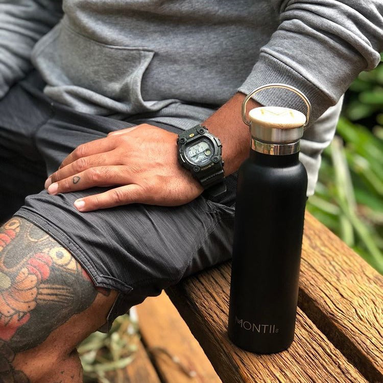 Montii Co Original Stainless Steel Bottle - Black