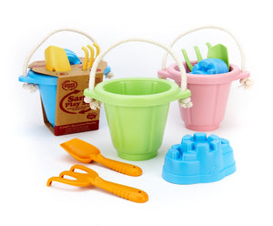 Green Toys - Sand Castle Mould Beach and Sand Pit Set - Pink