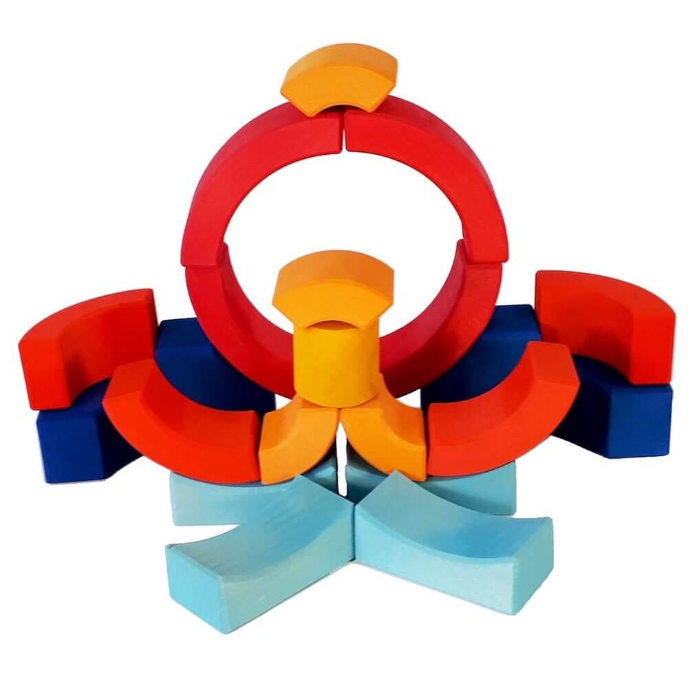 Bauspiel Circle Puzzle Blocks