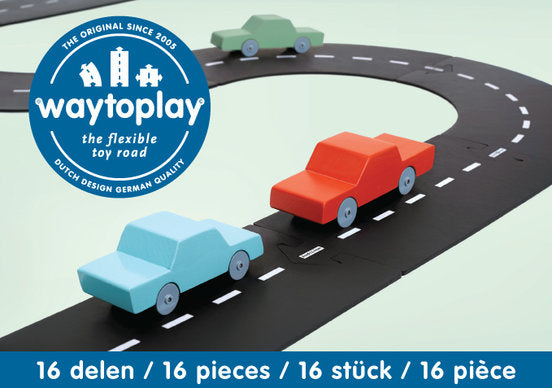 Way to Play Rubber Roads - Express Way (16 Pieces)