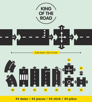 Way to Play Rubber Roads - King of the Road 40 Pieces