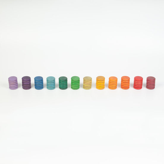 Grapat Coloured Coins - 12 colors (72 Piece)