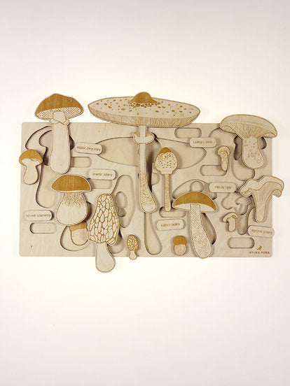 Stuka Puka - Spring Up Like Mushrooms Wooden Puzzle