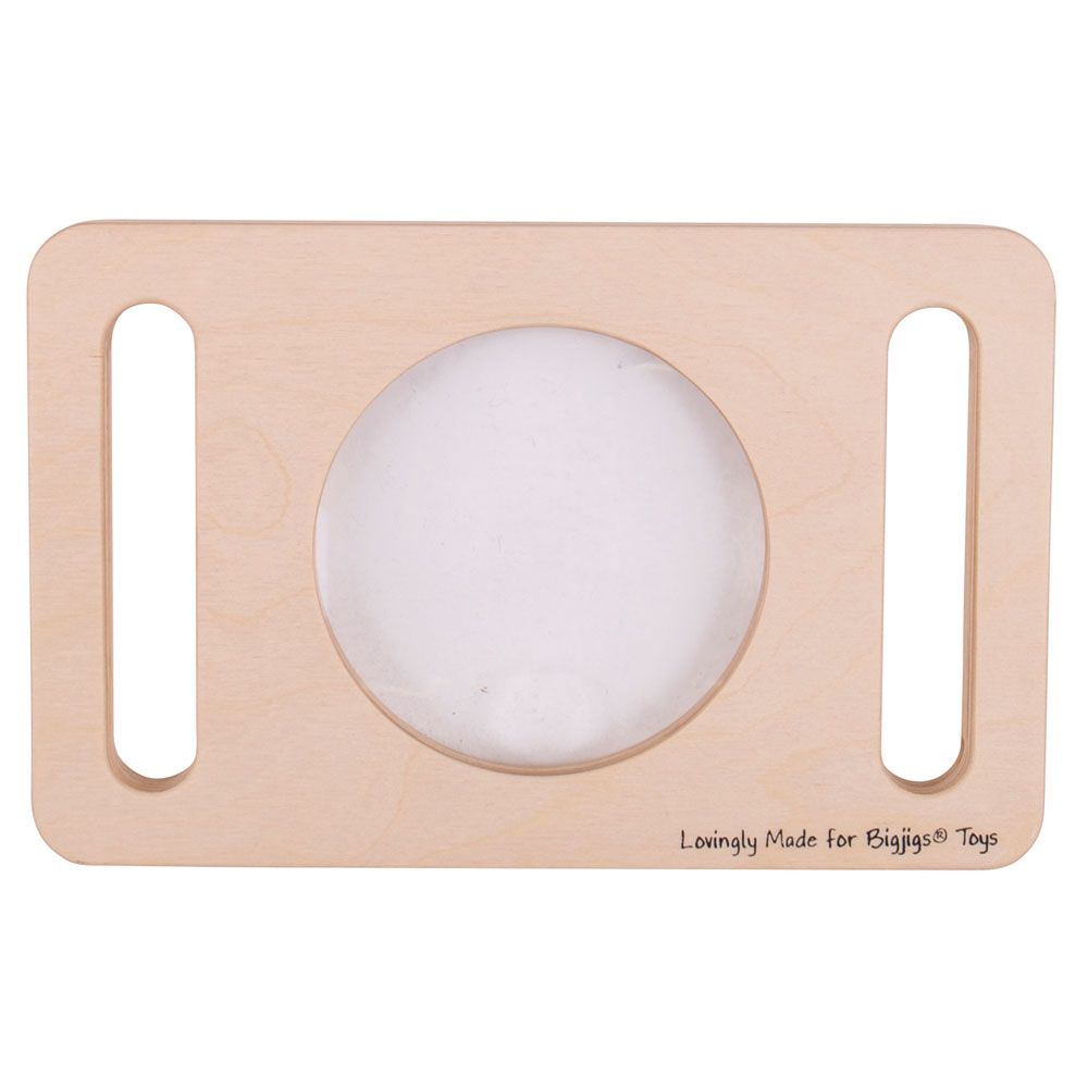 Bigjigs Wooden Two Handed Magnifying Glass