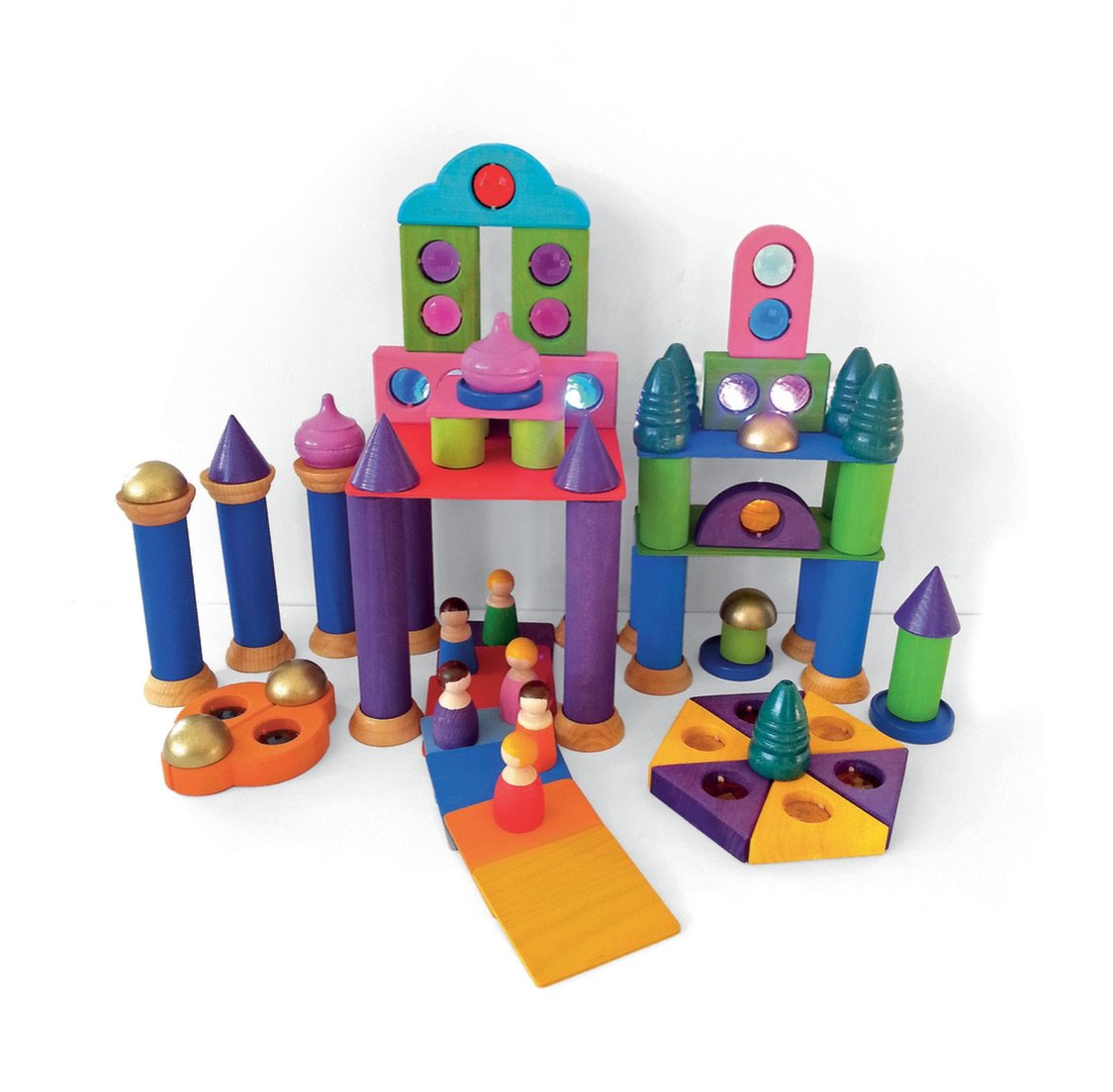 Bauspiel Wooden Fairytale Tower Set