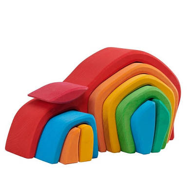 Gluckskafer Wooden Blocks - Vaulted Tunnel House 10pcs