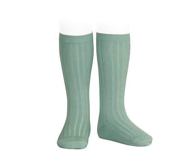 Condor ribbed knee high tights Jade