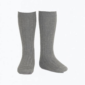 Condor ribbed knee high tights Gris Caro