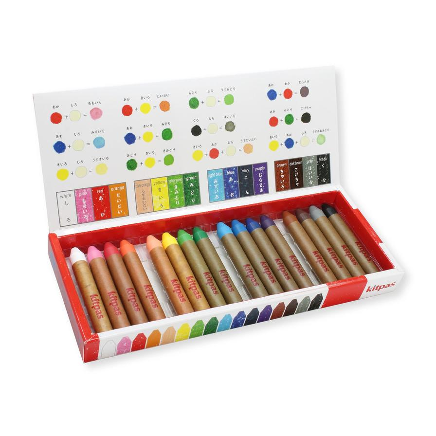 Kitpas Medium Stick Crayons 16 colours