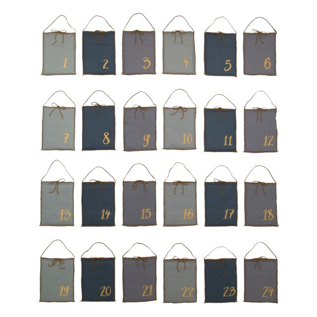 Numero 74 Advent Calendar Gift Bags - Mixed Blue