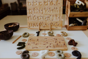 Q toys Lower Case Letter Wooden Tracing board