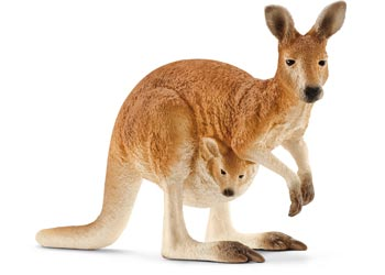 Children_of_the_Wild-Australia Schleich Kangaroo Female with Joey 14756