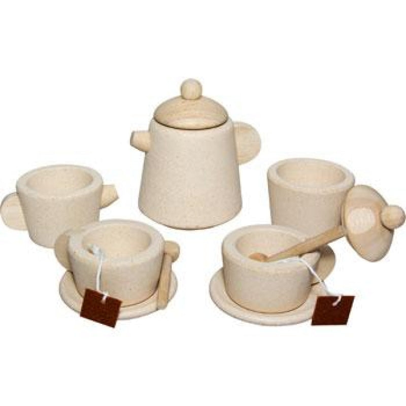 Plan Toys - Wooden Natural Tea Set 3616
