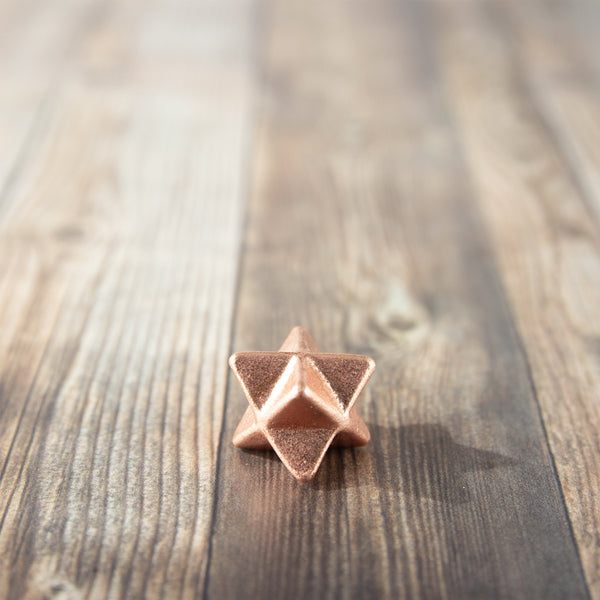 copper merkaba star