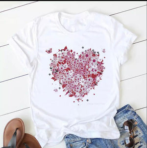 Tricou alb Love Everything