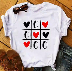Tricou alb Love and Zero