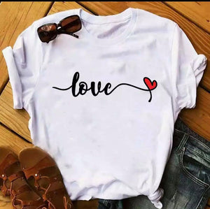 Tricou alb Love Kite