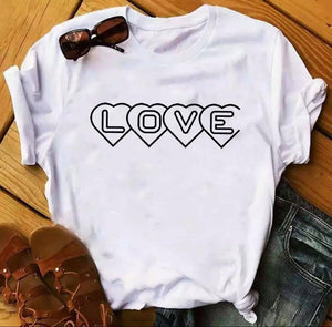 Tricou alb Love is Simple
