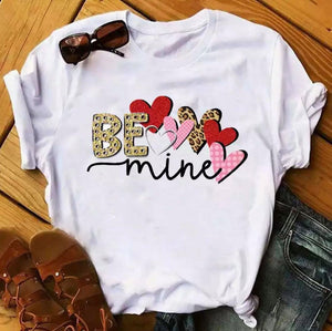 Tricou alb Love Be Mine