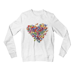 Bluza alba Fluture Love Butterflies