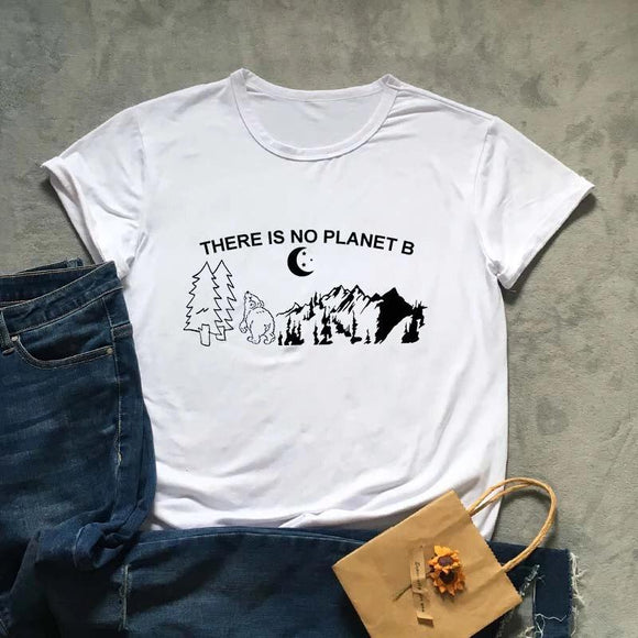 Tricou alb  dama There Is No Planet B