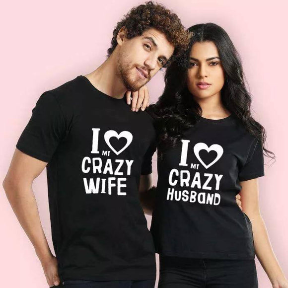 Set tricouri negre Wife & Husband