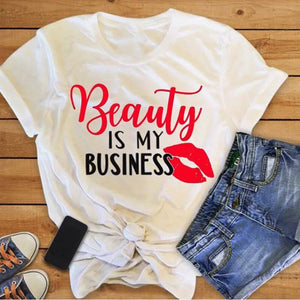 Tricou dama alb Beauty Is My Business