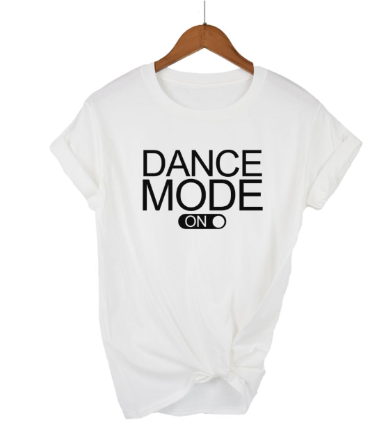 Tricou Alb Dance Mood