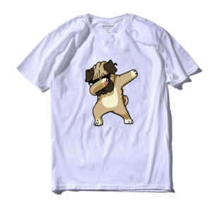 Tricou Alb Doggy Style
