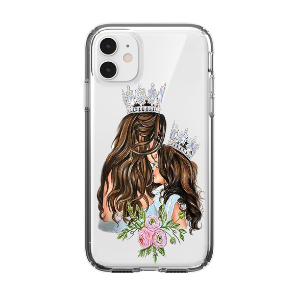 Husa iPhone transparenta Mom of Girl