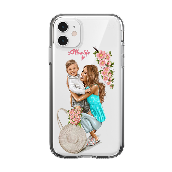 Husa iPhone transparenta Momlife #2