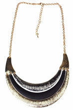 Load image into Gallery viewer, Crescent Moon Three Tier Necklace