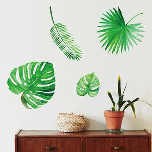 Palm Leaves Decorative Self-adhesive Wall Stickers