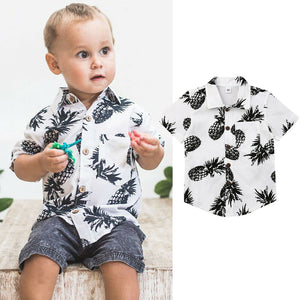 Toddler & Baby Boy Pineapple Button-up Cotton Shirt