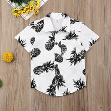Load image into Gallery viewer, Toddler & Baby Boy Pineapple Button-up Cotton Shirt