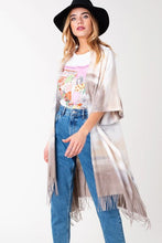 Load image into Gallery viewer, Tie Dye Fringe Bottom Cozy Wrap