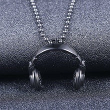 Load image into Gallery viewer, Music Headphones Titanium Steel Pendant