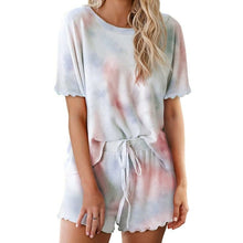 Load image into Gallery viewer, Loose Tie Dye Pajama Set