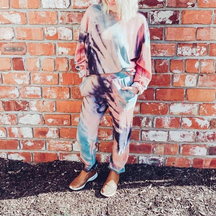 Loose Tie Dye Track Set Sweatsuit