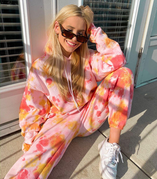 Autumn Tie Dye Suit Set