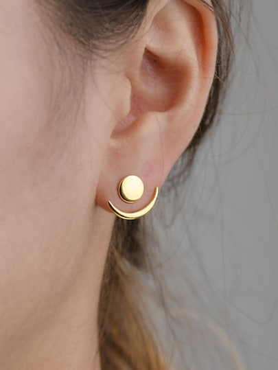 Round Detail Swing Stud Earrings