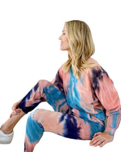 Load image into Gallery viewer, Loose Tie Dye Track Set Sweatsuit