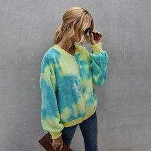Load image into Gallery viewer, Tie-dye Long Sleeve Women Jacket Coat