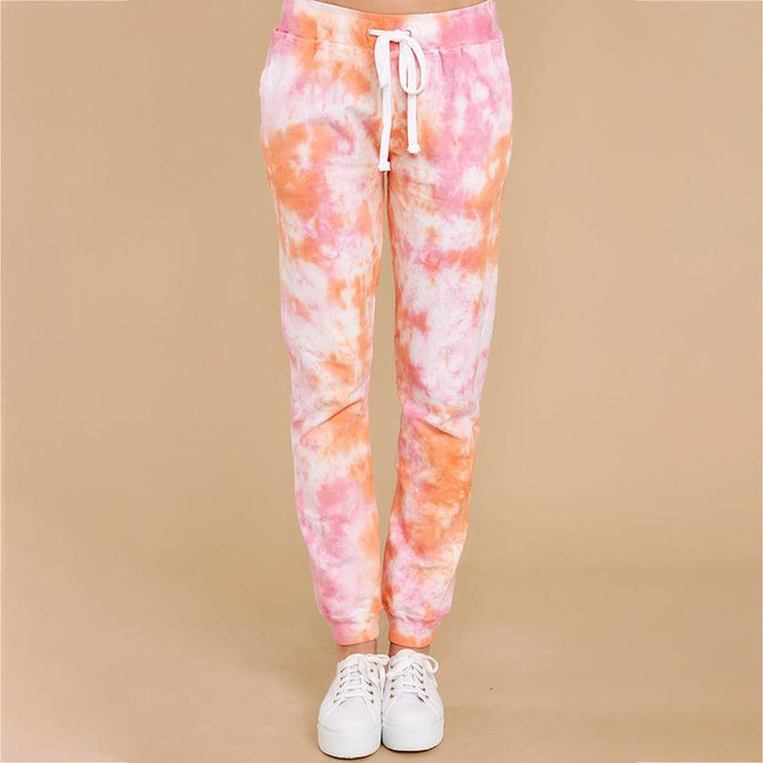 Autumn Tie-dye Casual Harlan Women's Trousers Sports Pants