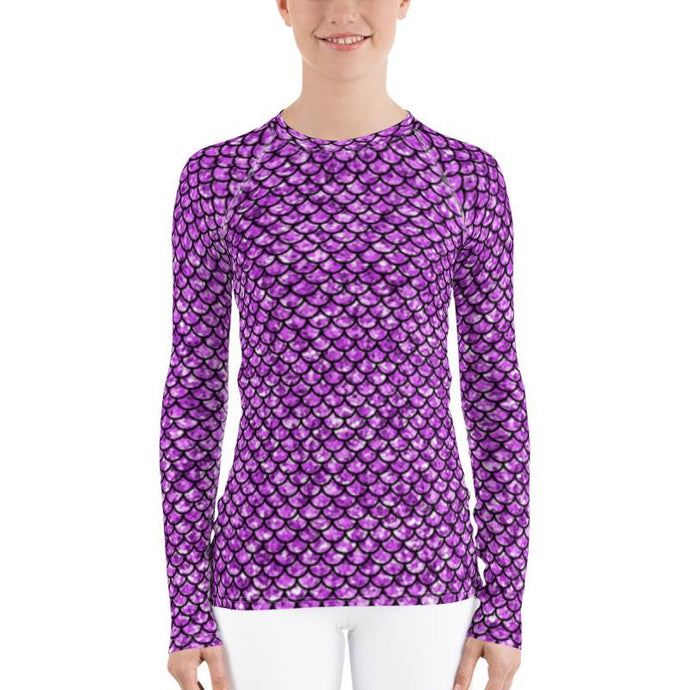 Purple Mermaid Rash Guard Top