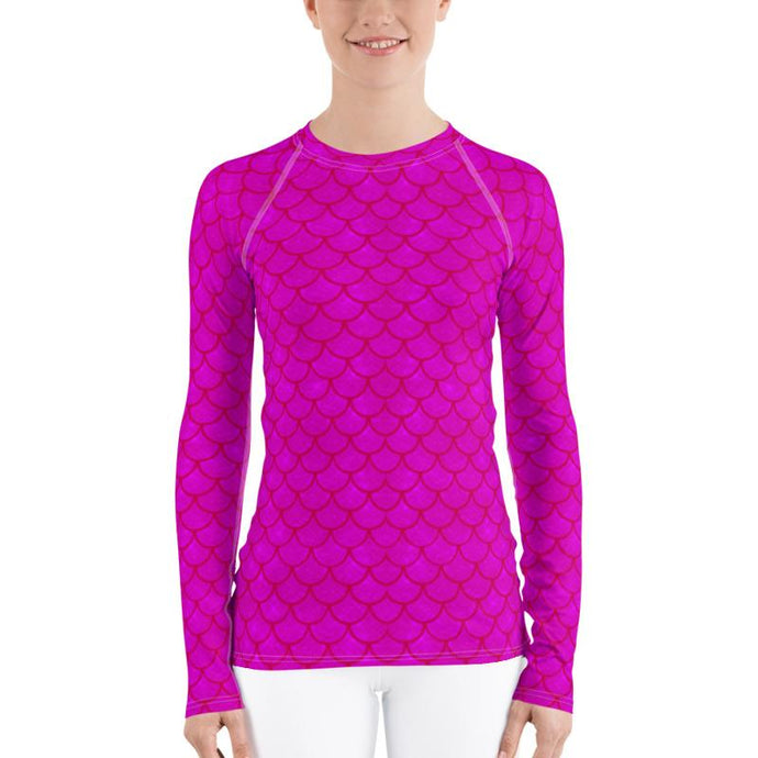 Pink Mermaid Rash Guard Top