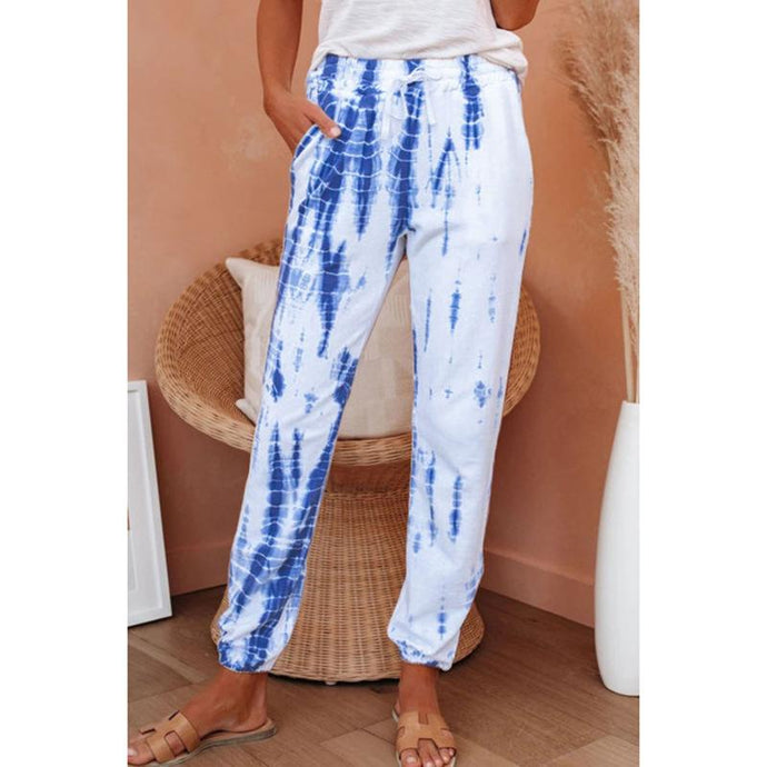 Cotton Tie-dye Casual Long Pants